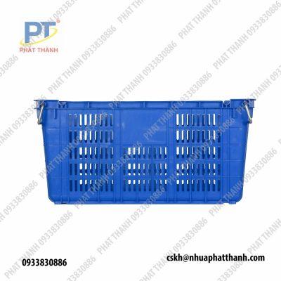 Thùng nhựa rỗng HS011 có quai sắt