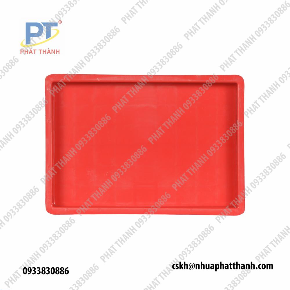 Khay nhựa lớn, Thùng nhựa đựng hàng công nghiệp màu đỏ