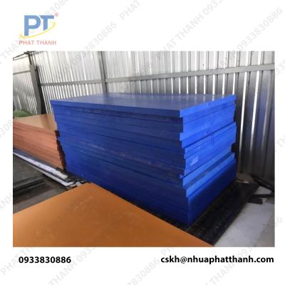 Thớt nhựa công nghiệp loại dày 5cm màu xanh – cỡ lớn ( 2 mặt trơn)