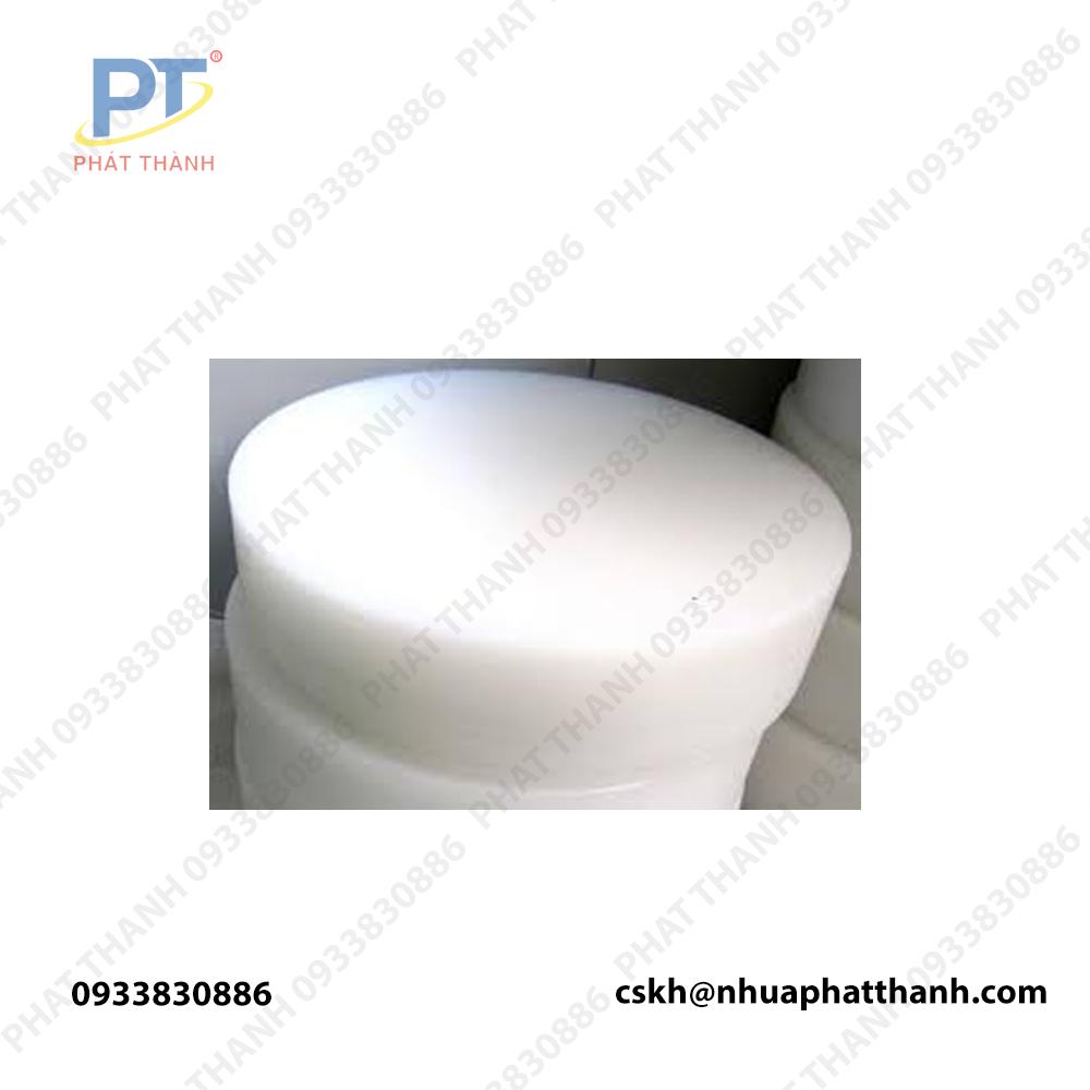 Bề mặt thớt nhựa tròn được chụp từ NHUAPHATTHANH