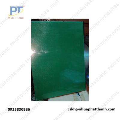 Thớt nhựa pp, thớt nhựa thực phẩm màu xanh lá ( 2 mặt) dày 4 cm khổ trung – PTTGD2