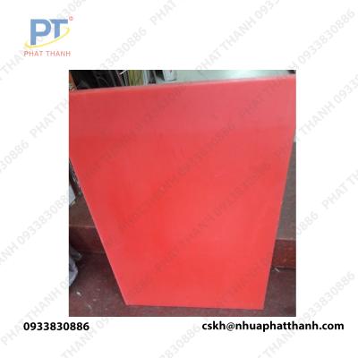 Thớt nhựa pp, thớt nhựa thực phẩm màu đỏ ( 2 mặt) dày 4 cm khổ trung – PTTGD2