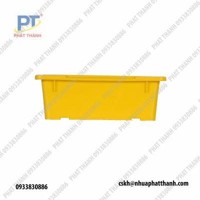 Sóng nhựa, khay nhựa lớn, Thùng nhựa đựng hàng công nghiệp, đặc A4 màu vàng