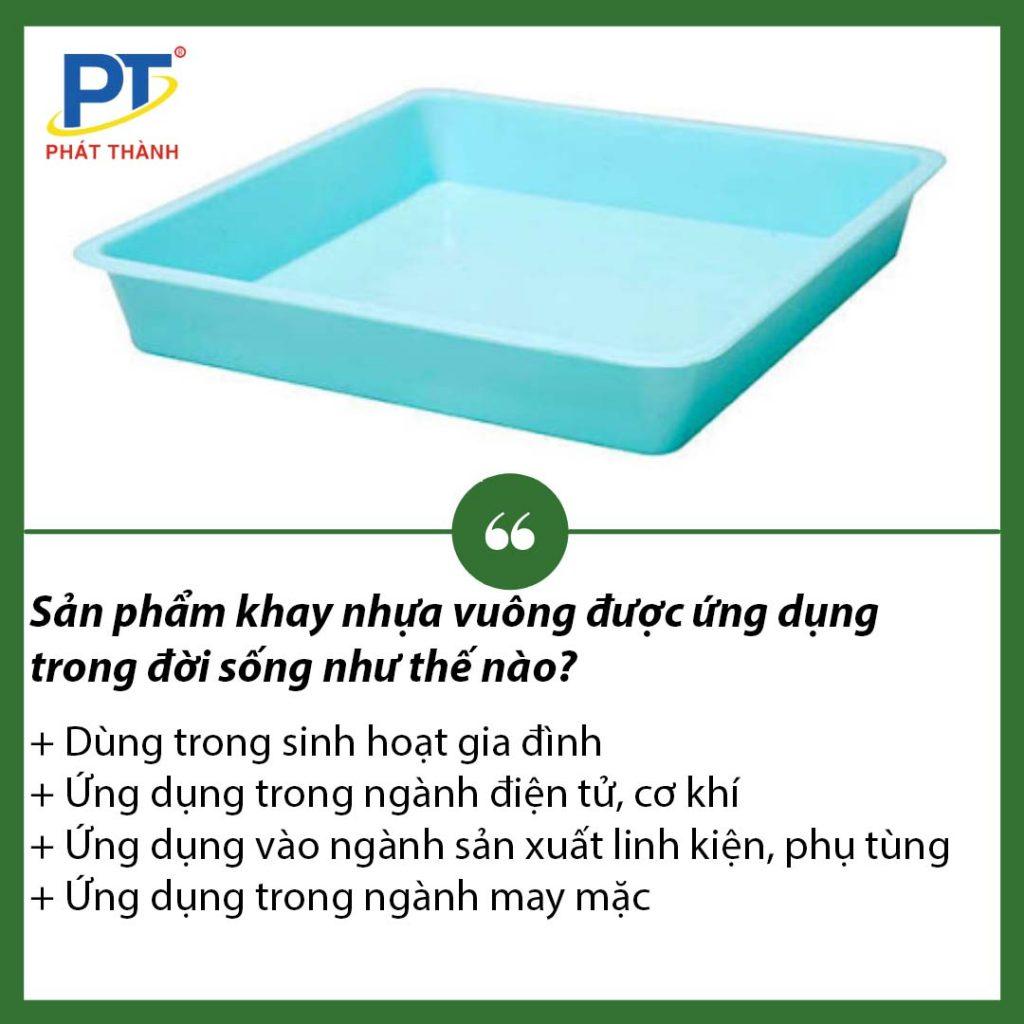 Ứng dụng khay nhựa vuông