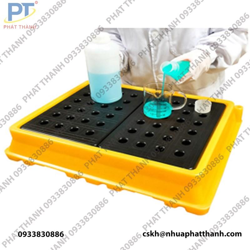 Khay chống tràn hóa chất thí nghiệm, 53x43x11cm, vàng