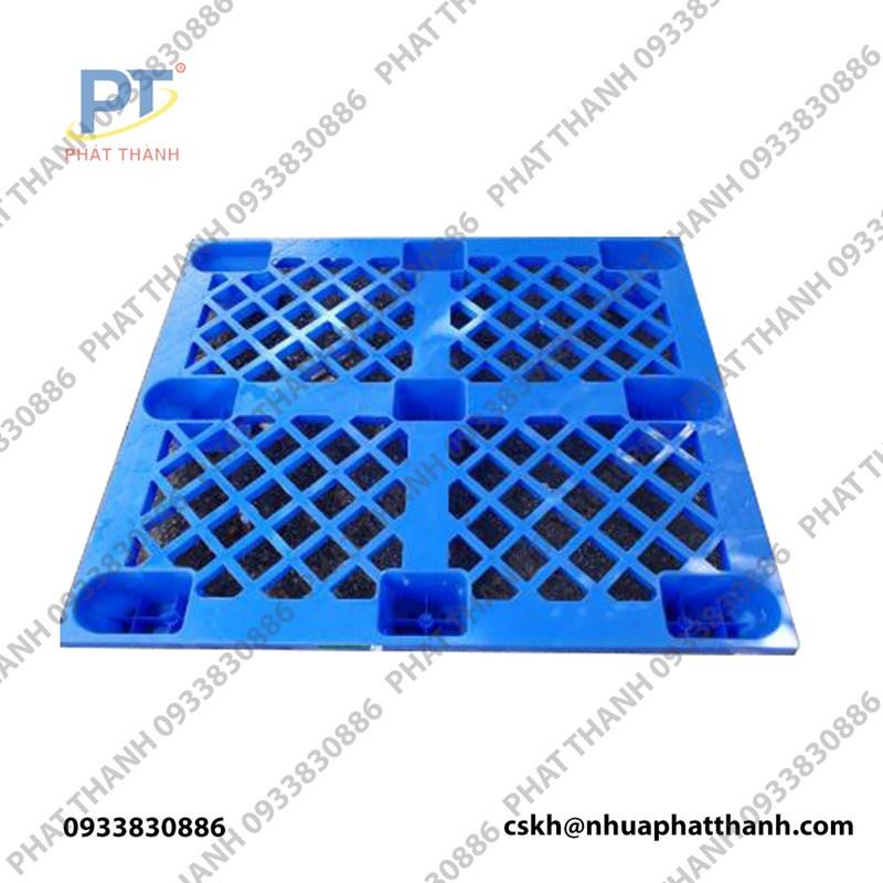 Pallet chân cốc (1200x1000x145) xanh dương