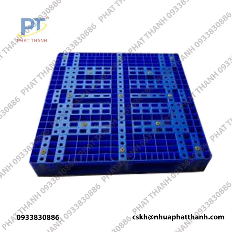 Pallet nhựa LK 1 mặt (1200x1000x150 ) xanh dương