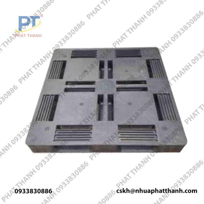 Pallet nhựa LK 1 mặt đá mẫu 2 ( KT: 1100x1100x145mm )