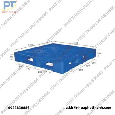 Pallet nhựa PL15LK màu xanh dương nhạt