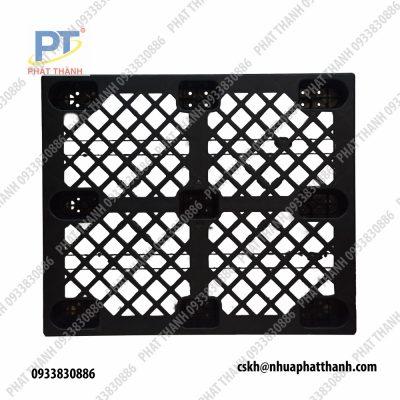 Pallet nhựa chân cốc 1200x1000x140mm màu đen