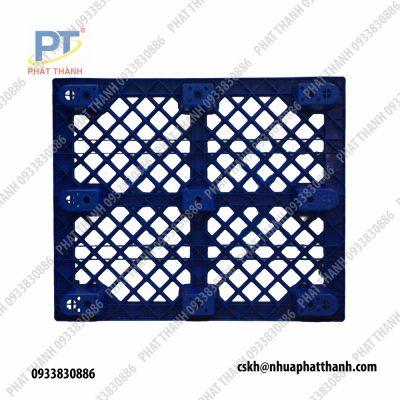 Pallet nhựa chân cốc 1200x1000x140mm màu xanh dương