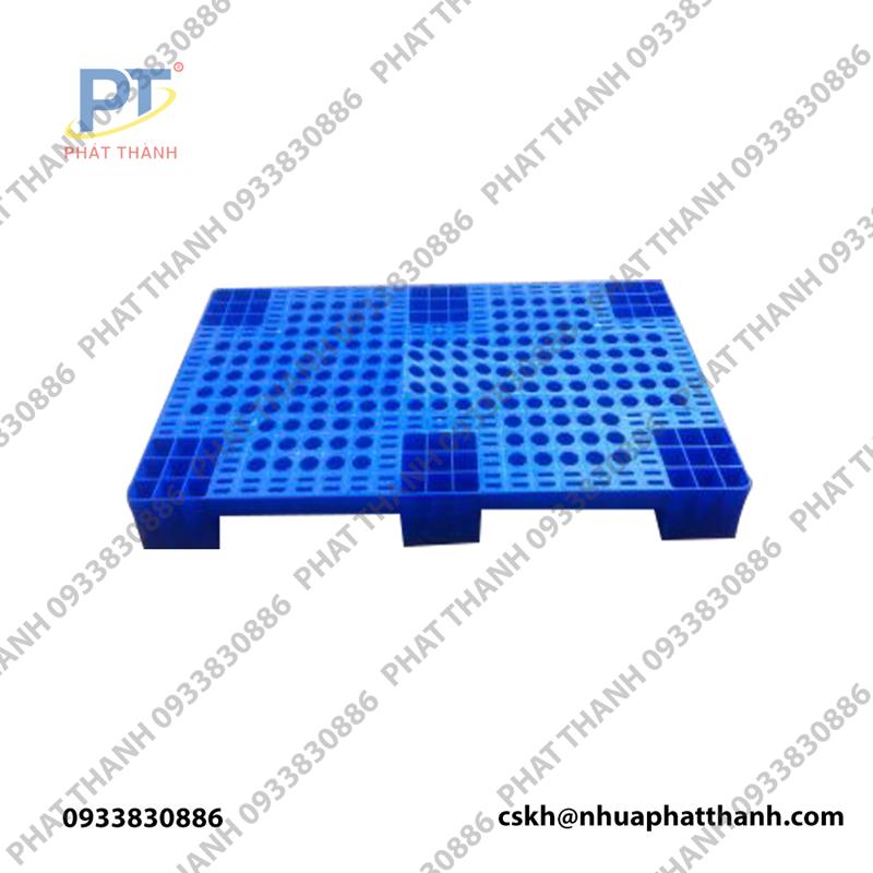 Pallet nhựa liền khối 1 mặt PL04 LS 1000x600x100mm