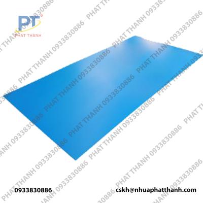 Tấm nhựa danpla thường màu xanh nước biển