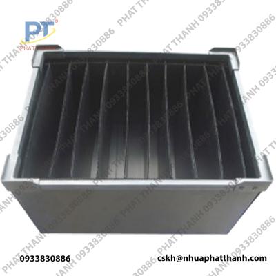 Thùng nhựa Danpla chống tĩnh điện có vách ngăn