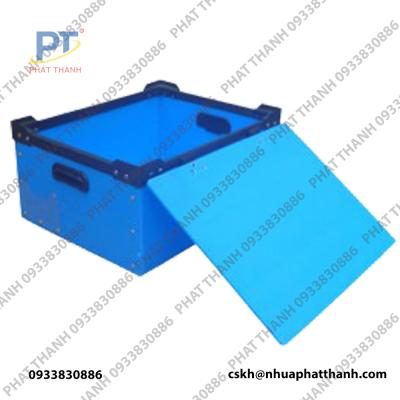 Mở nắp Thùng nhựa pp, tấm nhựa danpla tại Hà Nội loại có nắp, đặc, dung tích lớn, chống tĩnh điện