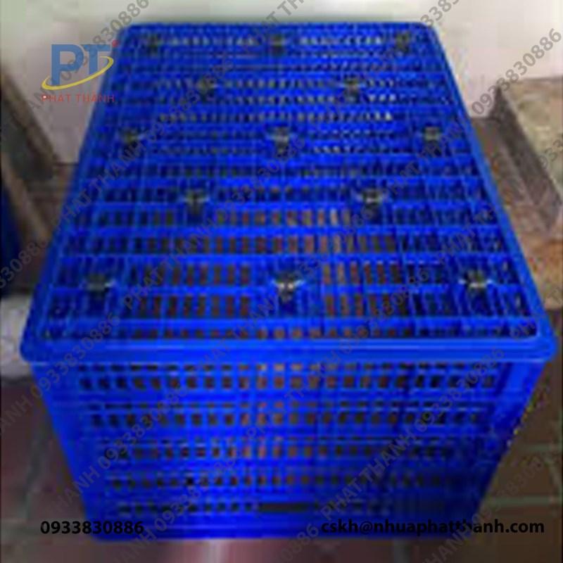 Mặt đáy thùng nhựa rỗng HS015 26 bánh xe