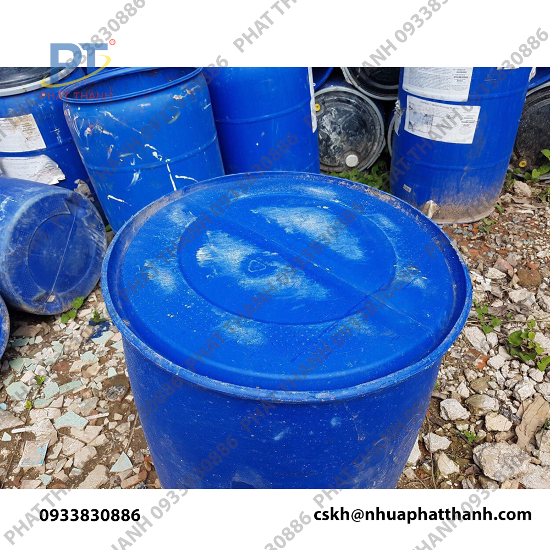 Mặt đáy thùng phi nhựa cũ giá rẻ