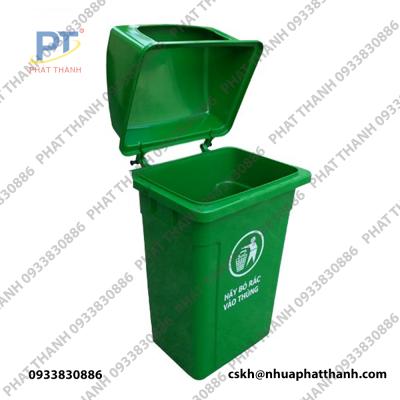 Thùng rác nhựa nắp hở dung tích 90L
