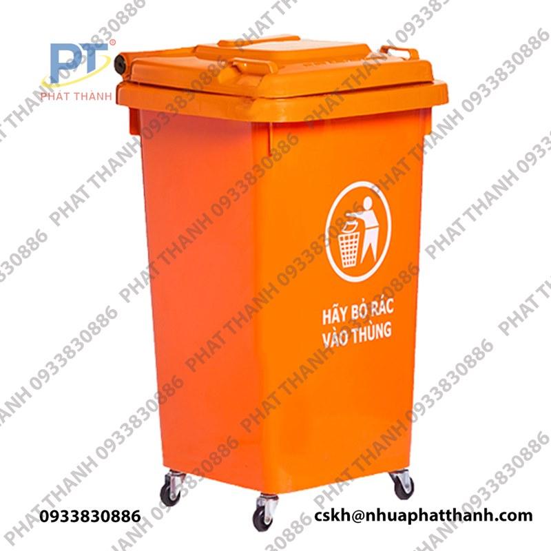 Thùng rác nhựa nắp kín dung tích 90L