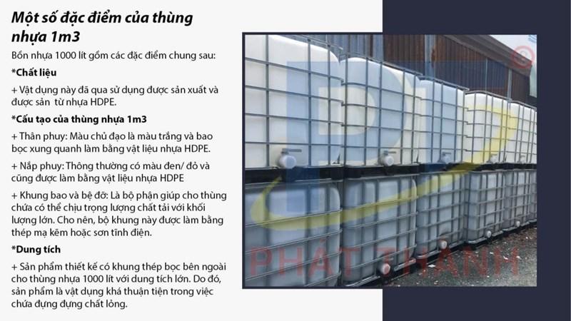 Đặc điểm của thùng nhựa 1m3