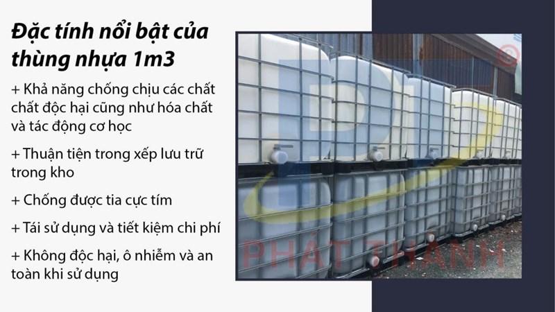 Đặc tính nổi bật của thùng nhựa 1m3