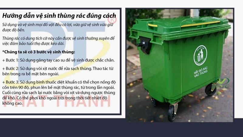 Hướng dẫn vệ sinh thùng rác đúng cách