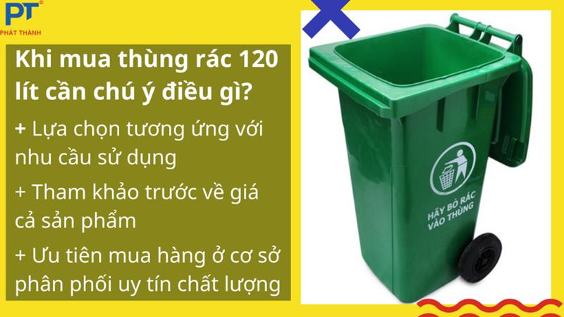 Lưu ý khi chọn mua thùng rác 120 lít