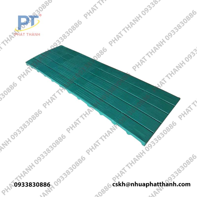 Pallet nhựa lót sàn 1800x600x50 mm màu xanh lá