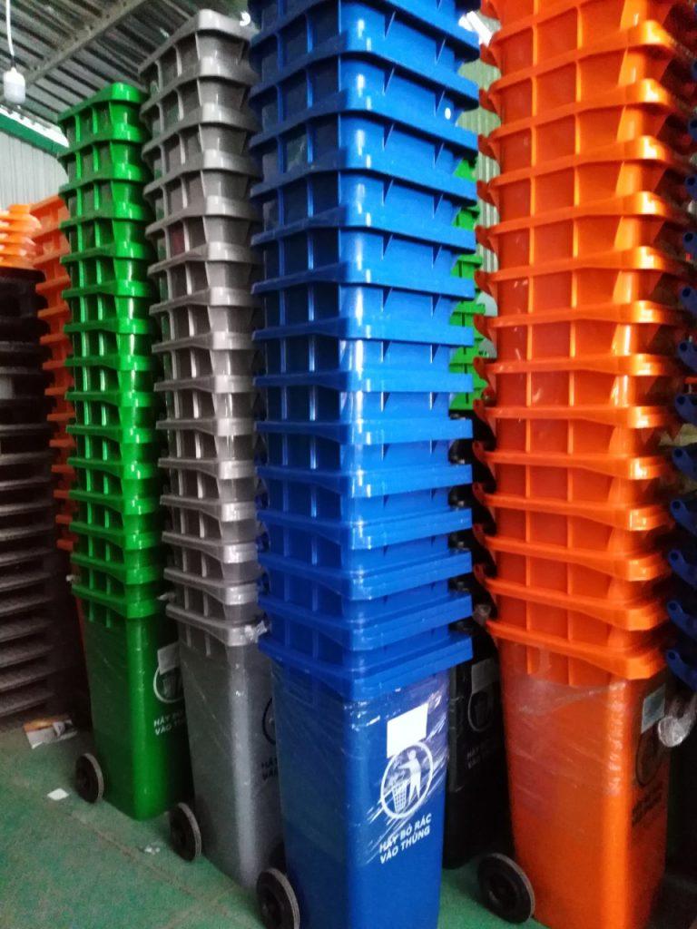 Thông số kỹ thuật thùng nhựa công nghiệp 240 lít