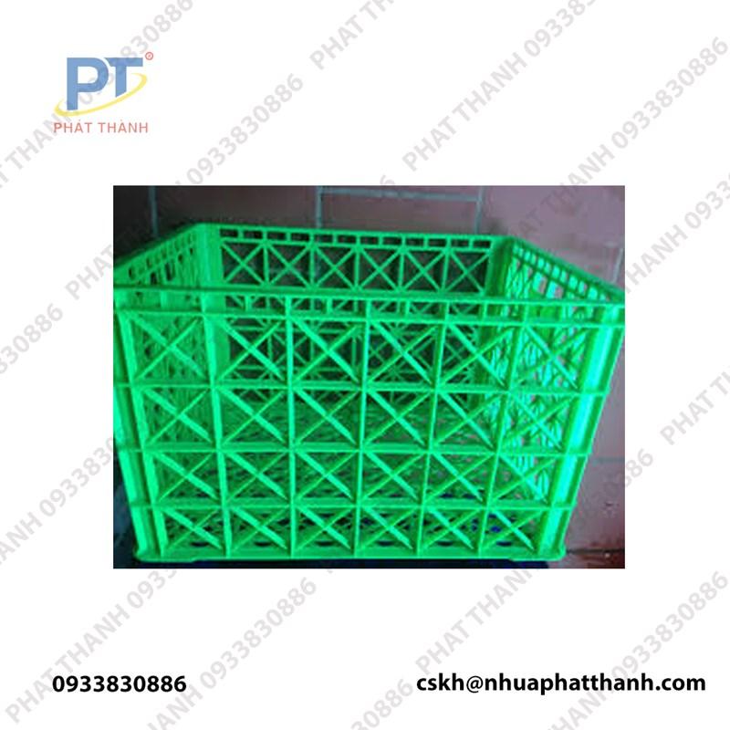 Thùng nhựa rỗng HS015 màu xanh lá cây