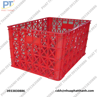 Thùng nhựa rỗng HS015 ( có bánh xe ) màu đỏ