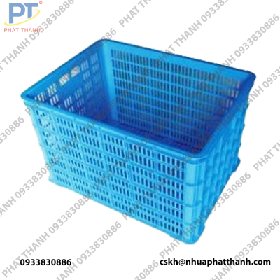 Thùng nhựa rỗng HS015 màu xanh dương