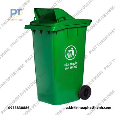Thùng rác công cộng 240 lít giá rẻ loại nắp hở