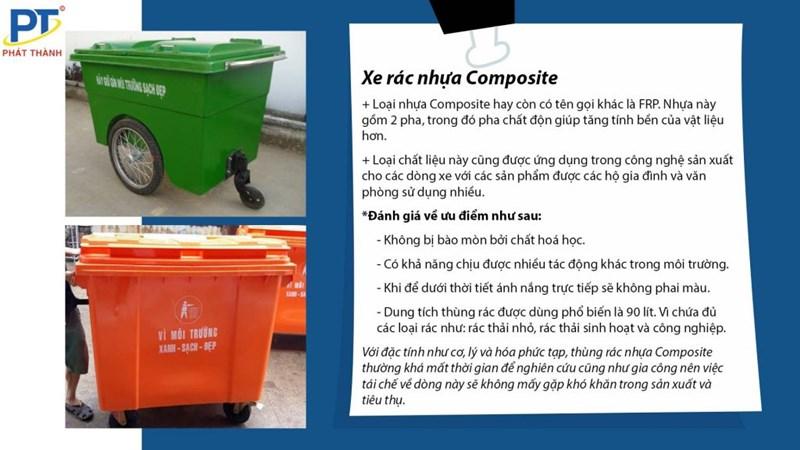 Xe rác nhựa Composite