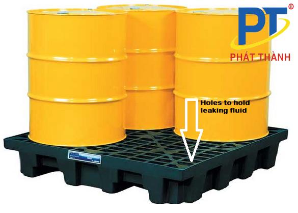 Kệ Pallet nhựa chống tràn dầu