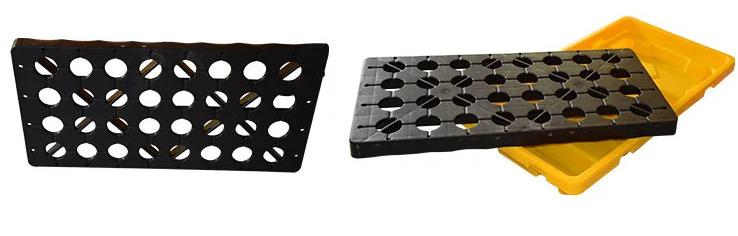 Ảnh 5: Thiết kế lưới đặc biệt Pallet nhựa chống tràn dầu