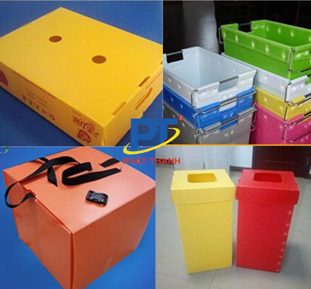 Ứng dụng thùng tấm nhựa PP danpla