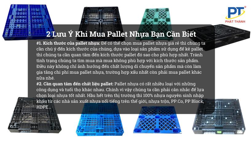 2 Lưu Ý Khi Mua Pallet Nhựa Bạn Nên Biết