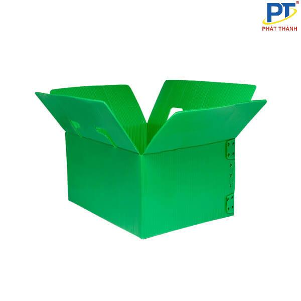 Thùng nhựa danpla xanh lá