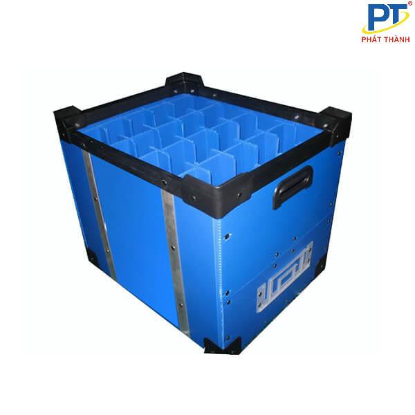 Thùng nhựa danpla xanh dương