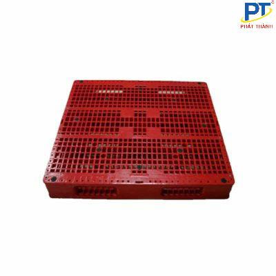 Pallet nhựa 1200x1200x150mm màu đỏ
