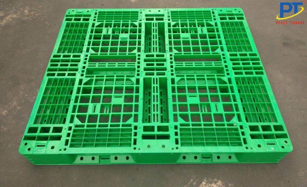 Pallet nhựa 1200x1200x150mm màu xanh lá