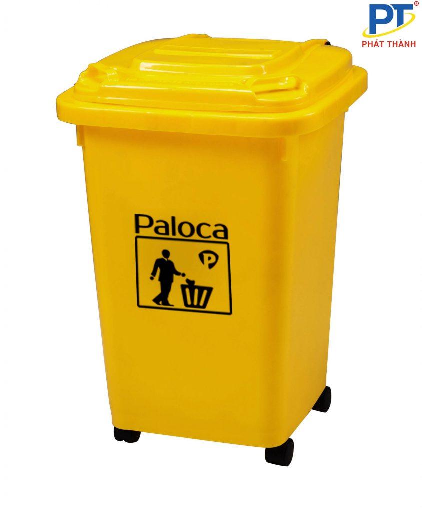 Thùng rác nhựa màu vàng