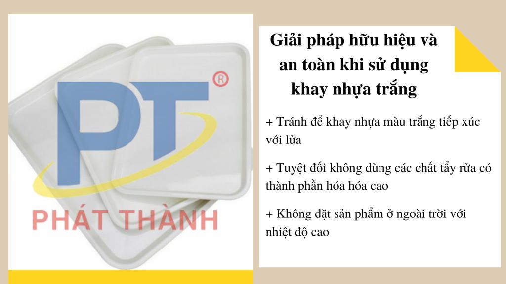 Giải pháp hữu hiệu và an toàn khi sử dụng khay nhựa trắng