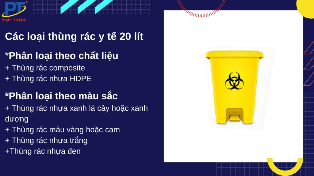 Các loại thùng rác y tế 20 lít
