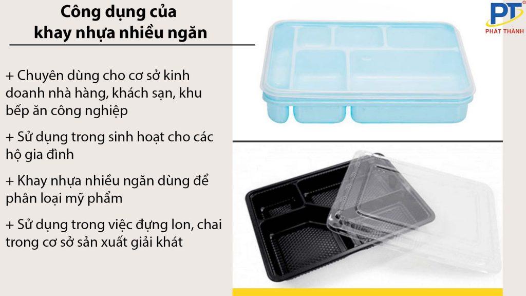 Công dụng của khay nhựa nhiều ngăn