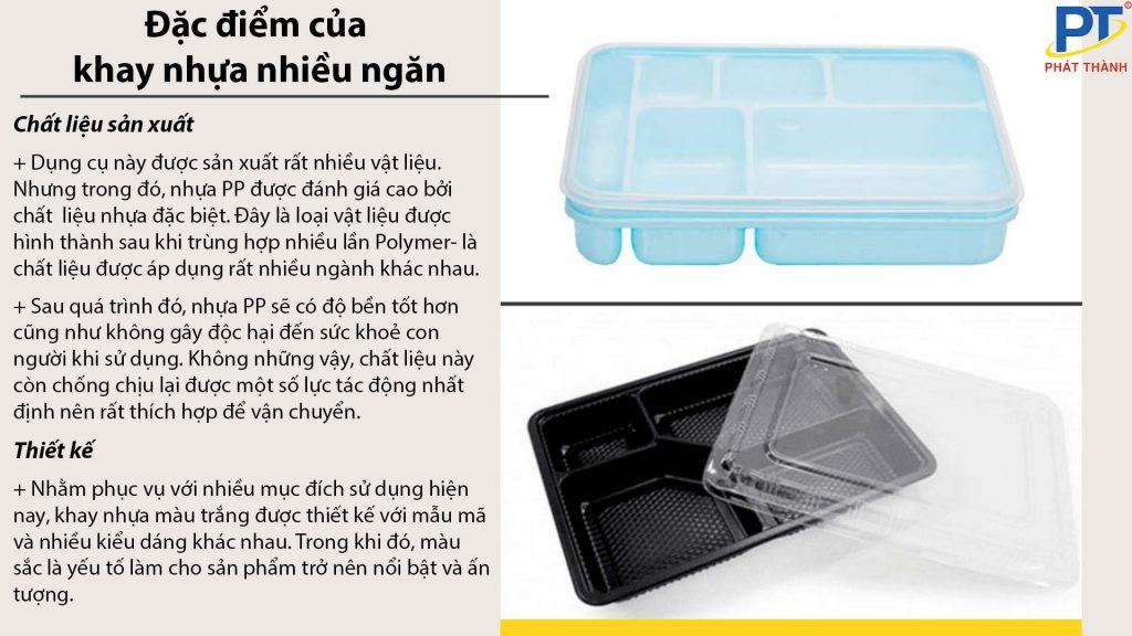 Đặc điểm của khay nhựa nhiều ngăn