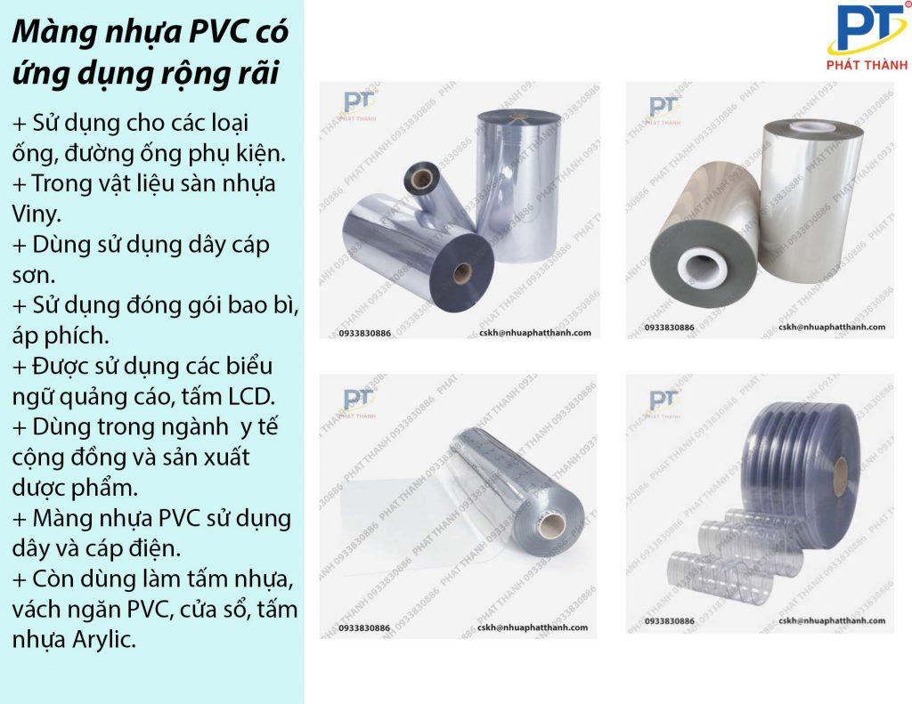 Ứng dụng của màng nhựa PVC